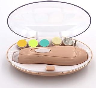 ベビー電動ネイルケア 赤ちゃん爪切りセット 電動ヤスリ爪みがき爪削り 低騒音 角質ケア 甘皮処理 6種類の専用アタッチメントが10個付属している &無料のベビー用ツメキリハサミ(ピンク)