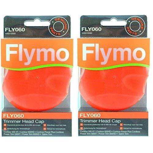 Flymo Original Contour 500XT 600HD 500 700 Motorsense Trimmer Kopf-Kappe (FLY060, Packung zu 2)