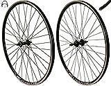 Redondo 28 Zoll Laufrad Set Hinterrad Vorderrad 28' V-Profil Hohlkammer Felge Schwarz