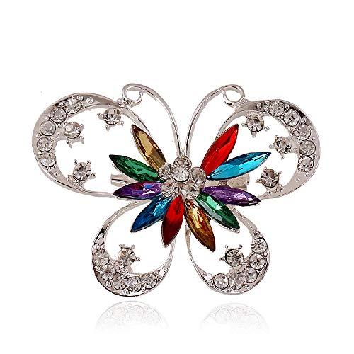 UBL PULABOPersonality - Broche elegante con forma de mariposa de diamante para boda, decoración de ramillete de novia, regalo de novia de calidad superior y creativo
