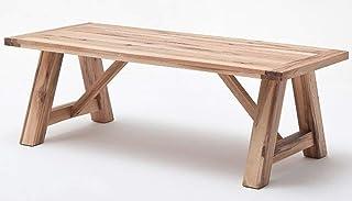 PEGANE Table à Manger en chêne Massif laqué chêne Sauvage - L.260 x H.76 x P.100 cm