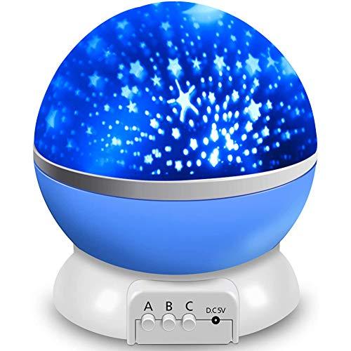 Proyector de estrella para dormitorio, luz nocturna, luces de bebé, proyector, 17 modos