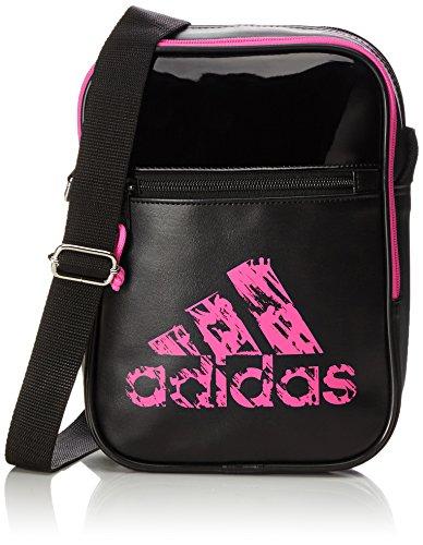 Adidas Sac pour petits articles de boxe, de taekwondo, de karaté, judo, BJJ, MMA, ou kickboxing, Mixte, Sac de sport, ADIACC02, noir/rose, 18 x 25 x 7 cm