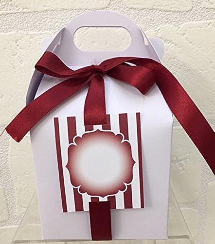 20 S Box WeißBox Sugarot Mandeln Staubbeutel 10 10 10 t Klebeband und füren bordeaux
