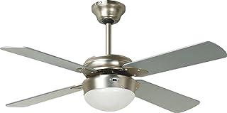 DUPI IMPORT- VENTILADOR LUZ LED. CON MANDO. CROMO. 4 ASPAS-14442114