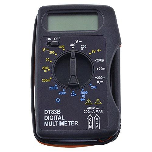 Godagoda Mini Digital Multimeter Spannungsmesser Stromprüfer Widerstand Strommessgerät Tragbar Messgeräte 102x60x24mm