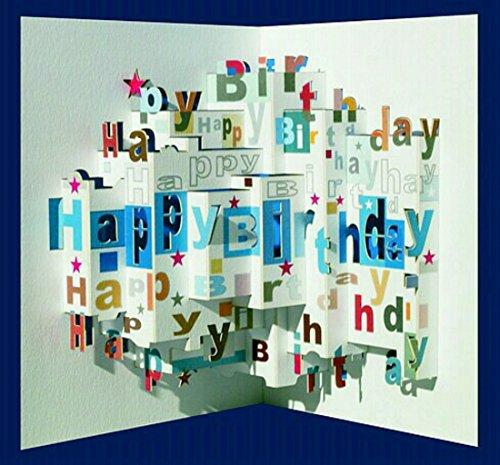Forever Pop Up 3D Karte Geburtstagskarte Geburtstag Gutschein Wunschschloss 16x11cm