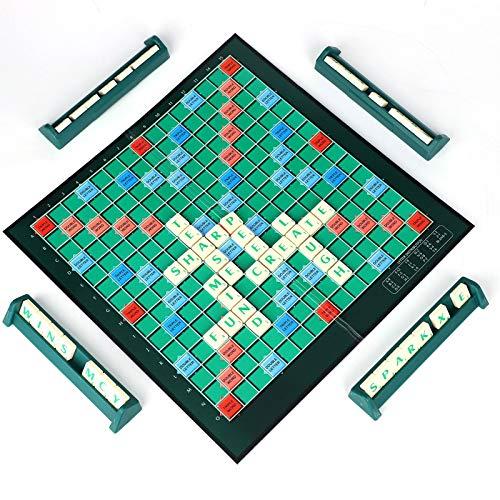 Trintion 100 Stück Scrabble Brettspiel Und Brettspiel Geeignet Kinder Holz Buchstabe Fliesen Zum Spielen für Vorschulerziehung für Kinder Buchstaben Gesellschaftsspiele Zum Spielen
