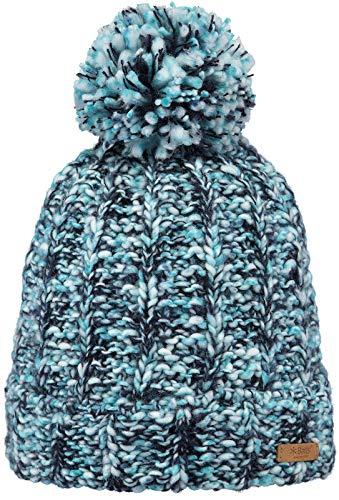 Barts Mylia Bommelmütze Beanie Strickmütze Wintermütze Damenmütze (One Size - blau)