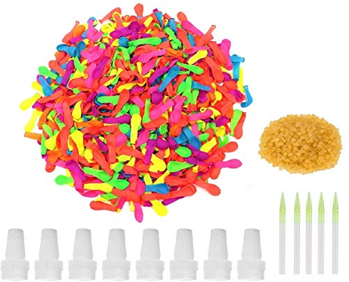 1500 Pack Water Balloons with 8 Refill Kits Latex Bomb for Water Sports Fun, Splash Fights for Pools and Outdoors,Summer Outdoor Water Games and Party Favors