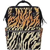 Vintage Animal Tiger Leopard Print Pañal Mochila Bolsas de bebé de gran capacidad Cremallera multifunción Mochilas de viaje casuales