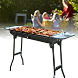 TBVECHI Barbecue Charcoal Grill, Folding Stainless Steel BBQ Grill, Portable Charc