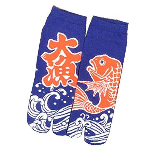 Fancy Pumpkin Kimono estilo japonés sandalia Split Toe Tabi Ninja Geta calcetines Geisha calcetines para hombres, E-23