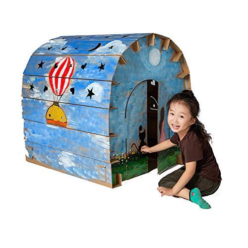 ROCK1ON Karton Speelhuis Kinderen DIY Kleurplaten Starry Sky House Kit Rol Spelen Game Cottage Indoor Spelen Schilderij Papier Huis Opvouwbare Premium Gegolfd