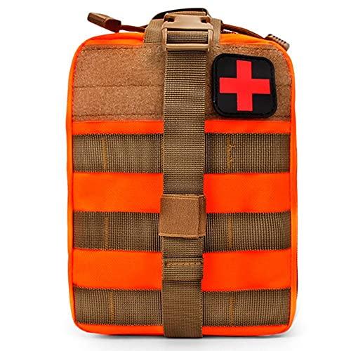 AXQQ Borsa di Pronto Soccorso, Borsa Medica Tattica Vuota EMT EMT Kit di Sopravvivenza di Emergenza Viaggi per Esterni per Il Kit di utilità Militare in Vita Multifunzione Medica.(Arancia)