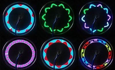 Yennuo 14 LED Motorcycle Cycling Bicycle Bike Wheel Signal Tire Spoke Light 30 Changes Plastics 1X Spoke Light