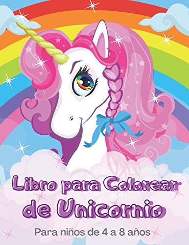 Libro para Colorear de Unicornio Para niños de 4 a 8 años