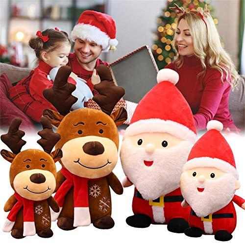 Pepional Weihnachtsmann Plüsch Puppe, Weihnachtselch Plüsch Spielzeug Weihnachten Waschbar Und Weich Figur Christbaumkugel Für Kinder, 23cm / 40cm