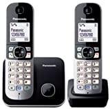 Panasonic KX-TG6812GB DECT-Schnurlostelefon (4,6 cm (1,8 Zoll) Grafik-Bildschirm) schwarz