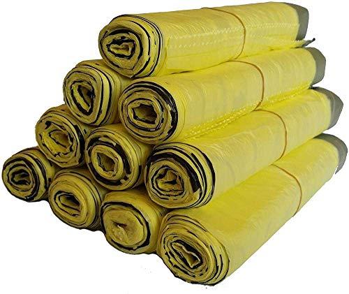 Cfbcc Müllsack 5 bis 100 Rollen gelben Sack Jutefaserbeutel Caddie Barrel Liner (Color : 10 Rollen 200 Pieces)