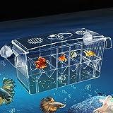 Aquarium Ablaichkasten Multifonctionnel Schwimmende Breeding Box Transparent Zucht Tanks Aufzuchtbehälter Brutkasten Zuchttanks la Pisciculture Aquarium Incubateur Isolation Box