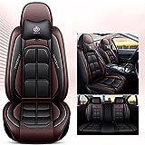 Ciroing Fundas Asientos Coche Accesorios Universales para Peugeot-207/Peugeot-206Fastback Cuero Funda Asiento Seat,Marrón