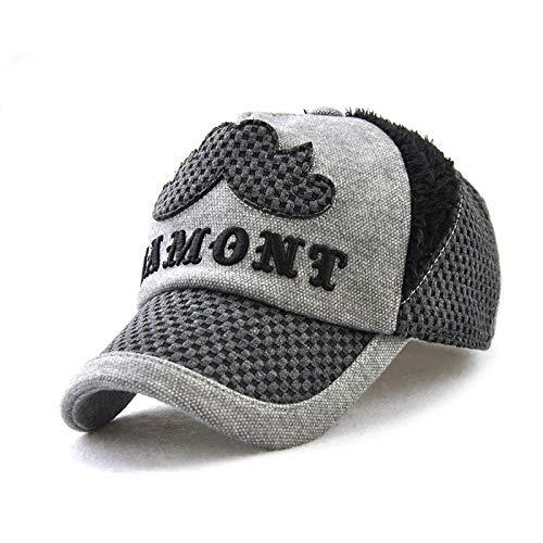 Béisbol Otoño/Invierno Sombrero para niños Protección para los oídos Sombrero Nuevo para bebés y niñas Sombrero de algodón cálido Protección Coreana para los oídos a Prueba de Viento