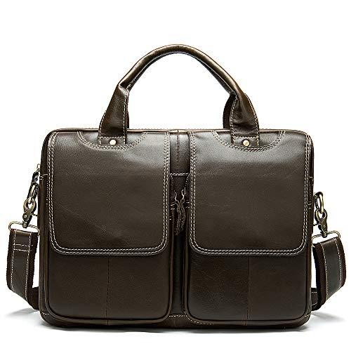 Poooooi Männer Aktentasche Umhängetasche Reisetasche Querschnitt Männer Umhängetasche Umhängetasche Retro-Serie Tasche Leder Männer,02