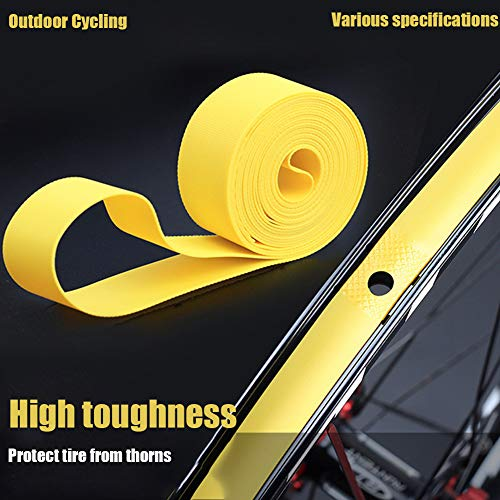 Mworld2 2pcs Wheel Rim Tape, Wheel Protection Pad Bike Tire Liner Belt, PVC Tyre Cushion Anti-Blow Out Puncture, Puncture Proof Outdoor Cycling for Mountain Bike Bicycle Wheel Rim Strip Tape