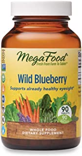 MegaFood, Wild Blueberry, Supports Healthy Eyesight, Chewable Whole Food Supplement Vegan, 90 Tablets (90 Servings)