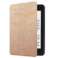 タブレットケースラップトップバッグ&スリーブタブレットスタンドハードシェル/New Kindle用Paperwhite 4 2018スマート薄型レザースリープアウェイクフリップカバーケース