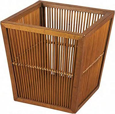 Household Essentials Whitney Designs WDML-6223 Square Bamboo Basket