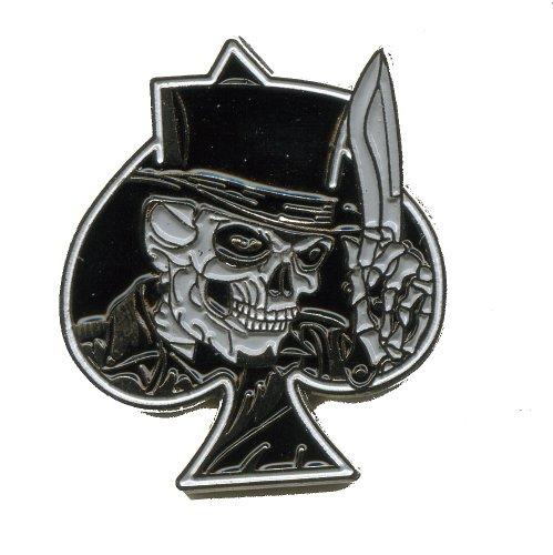 Sensenmann Skull Reaper Pik Emblem Badge Metall Button Pin Anstecker 0069