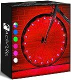 Activ Life (アクティブライフ) 自転車用LEDタイヤライト 1ホイール レッド 女の子 人気 クリスマス バースデープレゼント ブラックフライデー サイバーマンデー スペシャルセール 彼 彼女 男女 大人 子ども 10代 楽しい レッド