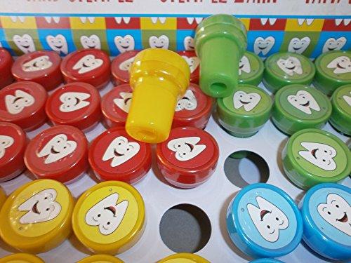 12 Kinder Stempel Zahn Zähne Kinderstempel Mitgebsel