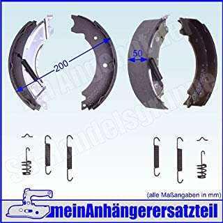 meinAnhängerersatzteil Bremsbacken Set für Knott Radbremse 20 2425/1 20 964/1 200x50mm Bremsbeläge