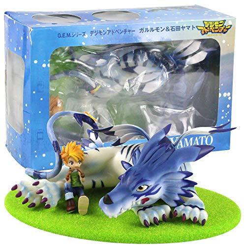 Qwead Figura De Juguete De Dibujos Animados Digimon 13Cm, Garurumon Ishida Yamato PVC Figura De Acción Modelo Colección Muñecas De Juguete Regalo