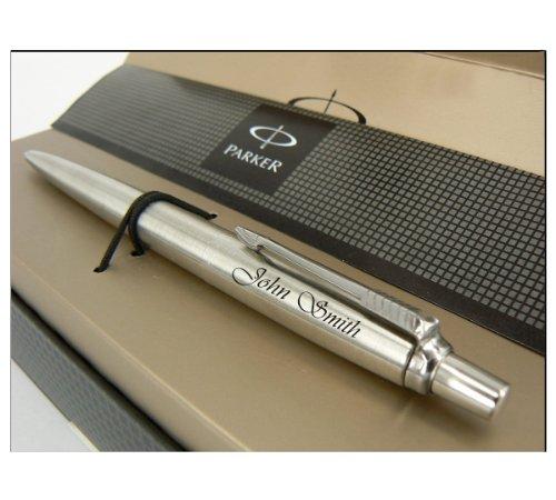 Personalisierter Silberner Bleistift Parker Jotter, Graviert mit RMI U-15 Laser