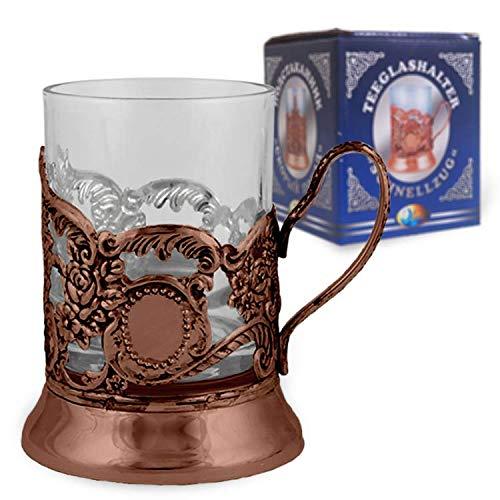 OLYMP Teeglashalter Schnellzug Bronze (mit Teeglas 200 ml)