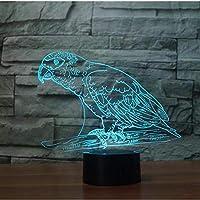 HUUDNHYK 小鳥3d常夜灯7変更可能なled3dランプテーブルランプ装飾テーブルランプusbled子供用ランプテーブルランプ