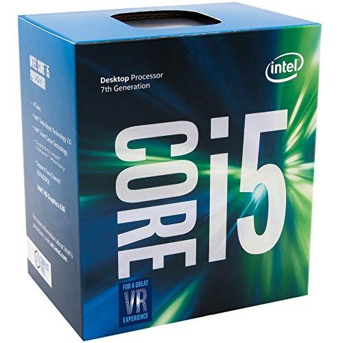 Intel BX80677I57400 Processore Intel Core i5 7400, S 1151, Kaby Lake, Quad Core, 4 Thread, 3.0GHz, 3.5GHz Turbo, 6MB Cache, 1000MHz GPU, 65W, Argento