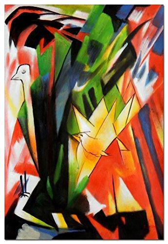 elOleo Franz Marc - Vögel 90x60 Gemälde auf Leinwand handgemalt 88988A