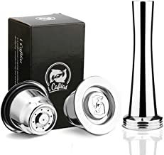 i Cafilas Espresso Set of 2 Nespresso Capsules Compatible Coffee Capsules, Refillable Reusable Stainless Steel Filter, Cof...