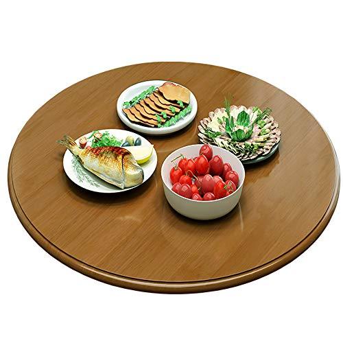 SZYW Tavolo da Pranzo Giradischi in Legno Piatto Rotante Rotondo da Tavolo Vassoio Girevole Grande per Cucina, Colori Multipli, 80cm, 90cm