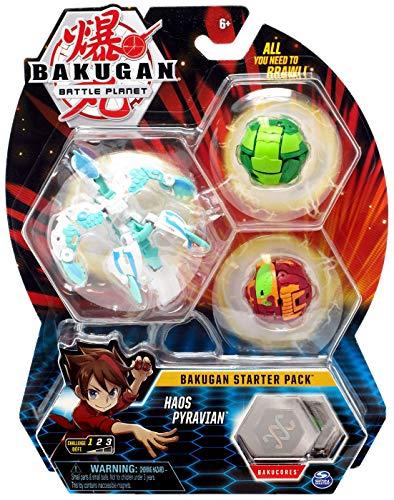 BAKUGAN Starter 3 Pack Action Figure - Haos Pyravian
