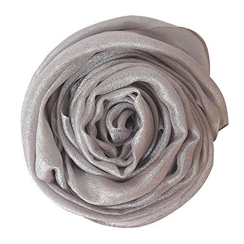 Lina & Lily Damen Leicht Sommer Langer Schal in verschiedenen Farben (Silber)