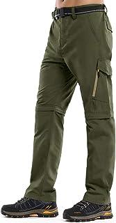 Toomett Men's Outdoor Quick-Dry Lightweight Waterproof Hiking Mountain Pants with Belt m885