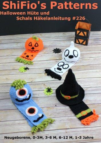 Häkelanleitung - CP226 -  Halloween Hüte und Schals