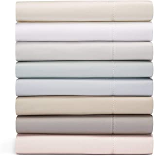 Hudson Park Collection 600 Thread Count, King Flat Sheet, Ivory