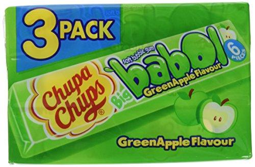 Chupa Chups Big Babol Grüner Apfel, 24er Pack (24 x 82 g)